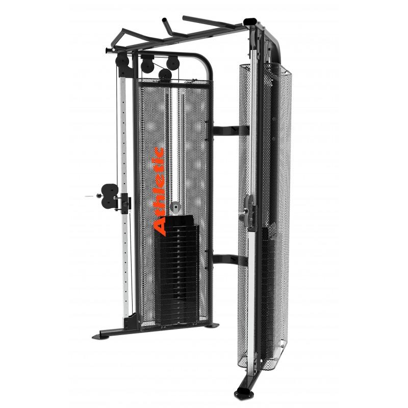 Gimansio Entrenador Multifuerza 205kg / 2 Torres / Peso máximo 150kg Cemento 2100MS Athletic