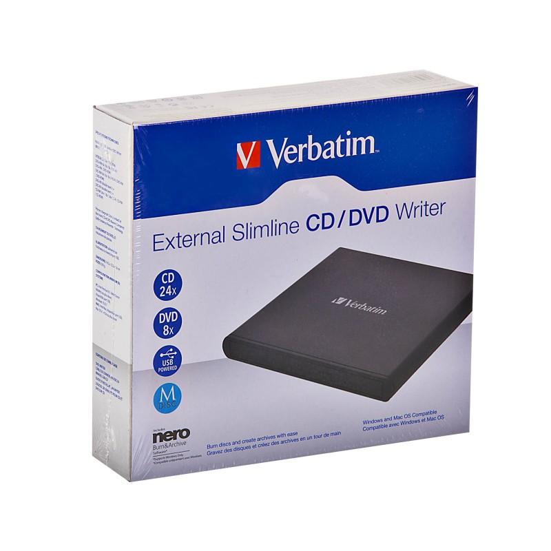 Unidad externa CD / DVD Writer Verbatim