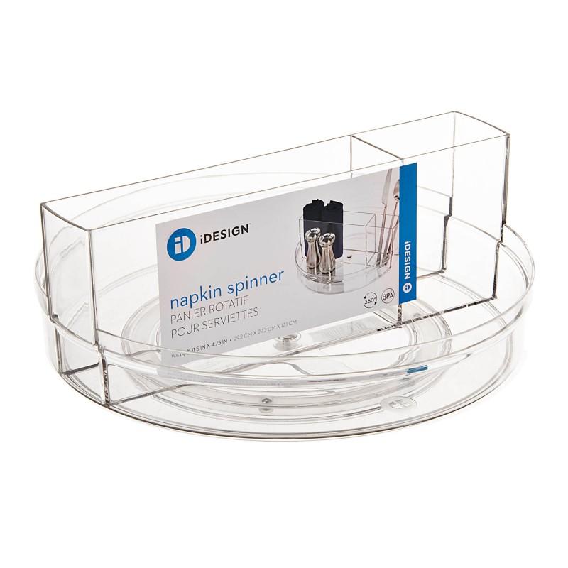 Organizador giratorio para mesa 4 divisiones Clear Crisp Interdesign
