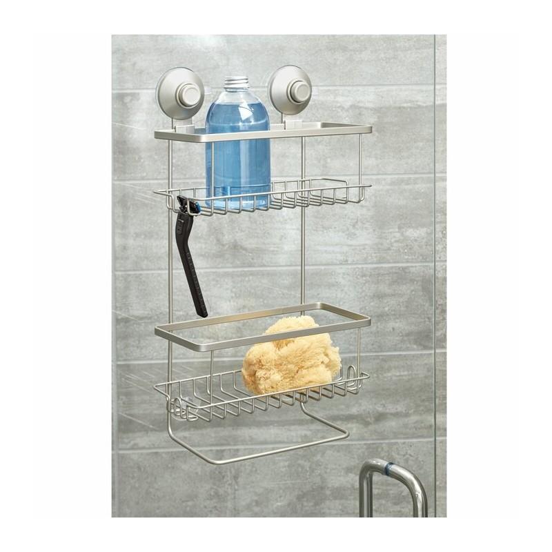 Organizador para ducha 2 niveles Silver Everett Roll Interdesign
