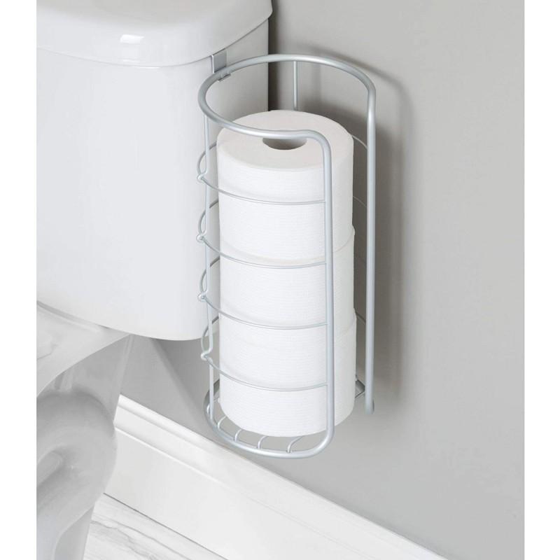 Porta papel para baño Metro Silver Interdesign