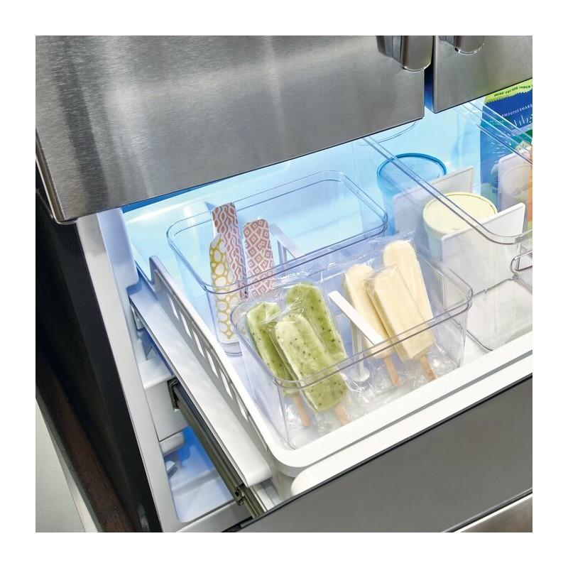 Caja organizadora para cajón profundo con agarradera Clear Crips Interdesign