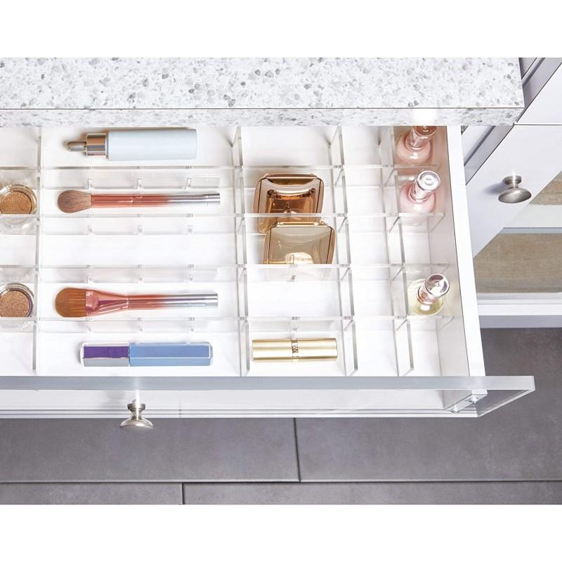 Organizador regulable para cajón Clear Clarity Interdesign