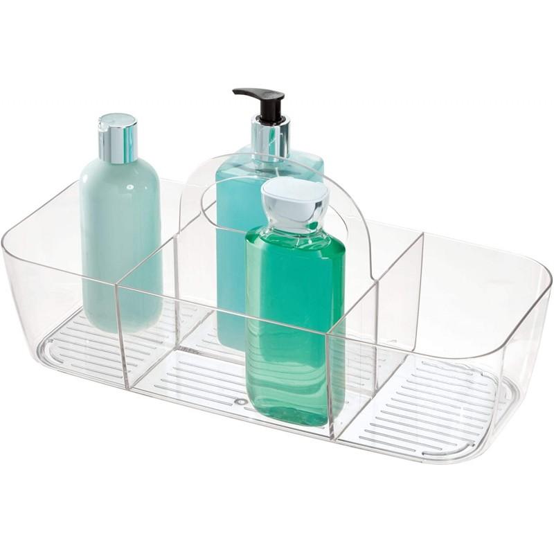 Organizador con agarradera para baño Clear Linus Interdesign