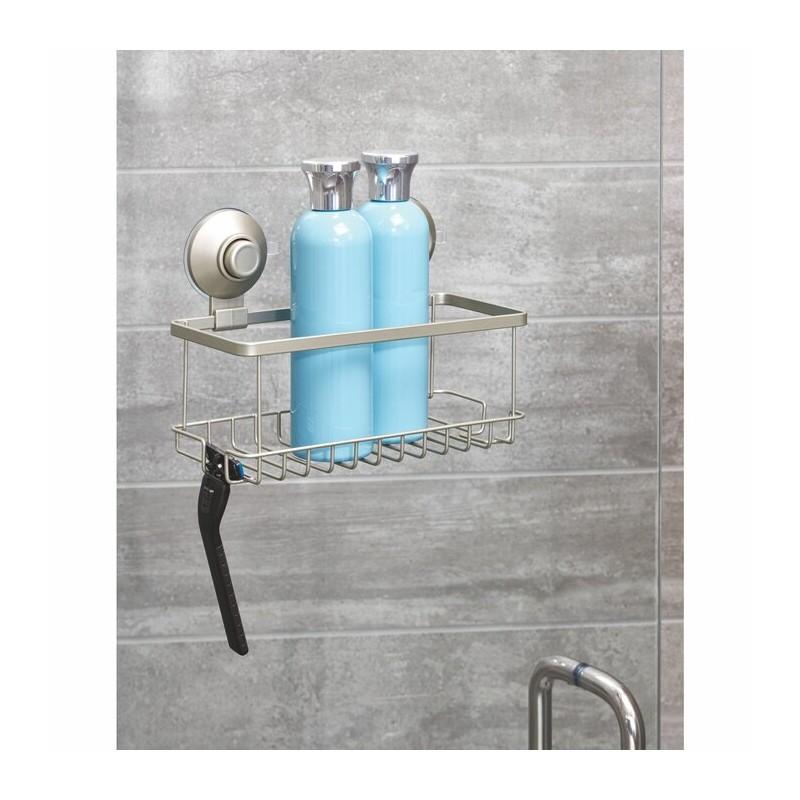 Organizador para ducha con ventosas Silver Everett Roll Interdesign