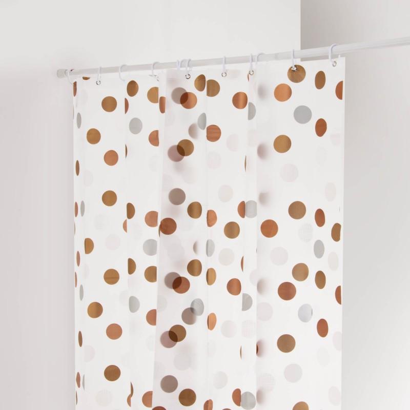 Cortina para baño Círculos Metalic Gilly Dot Interdesign