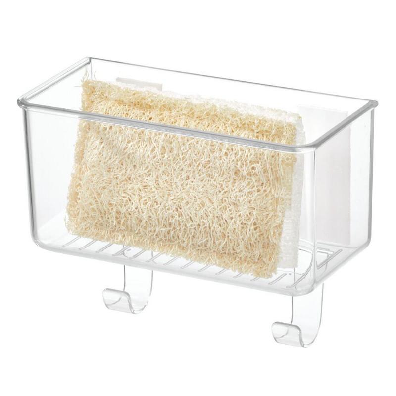 Porta esponja de cocina con gancho Clear Ariel Affixx Interdesign