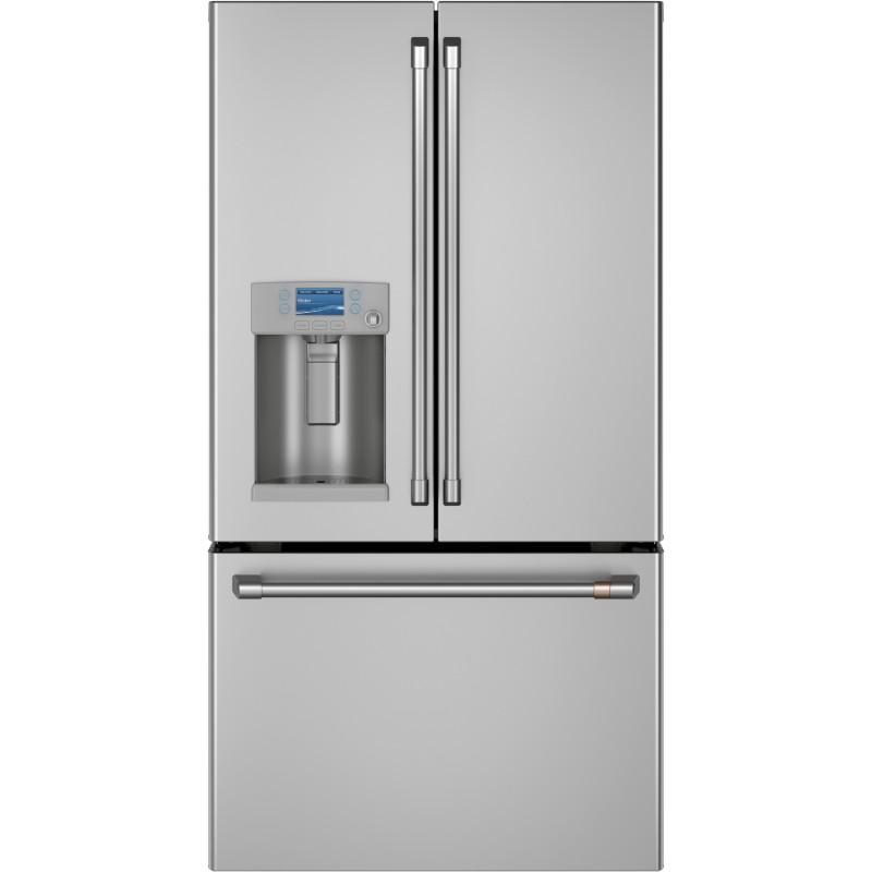 GE Café Refrigerador F/D con dispensador / luz LED 28'