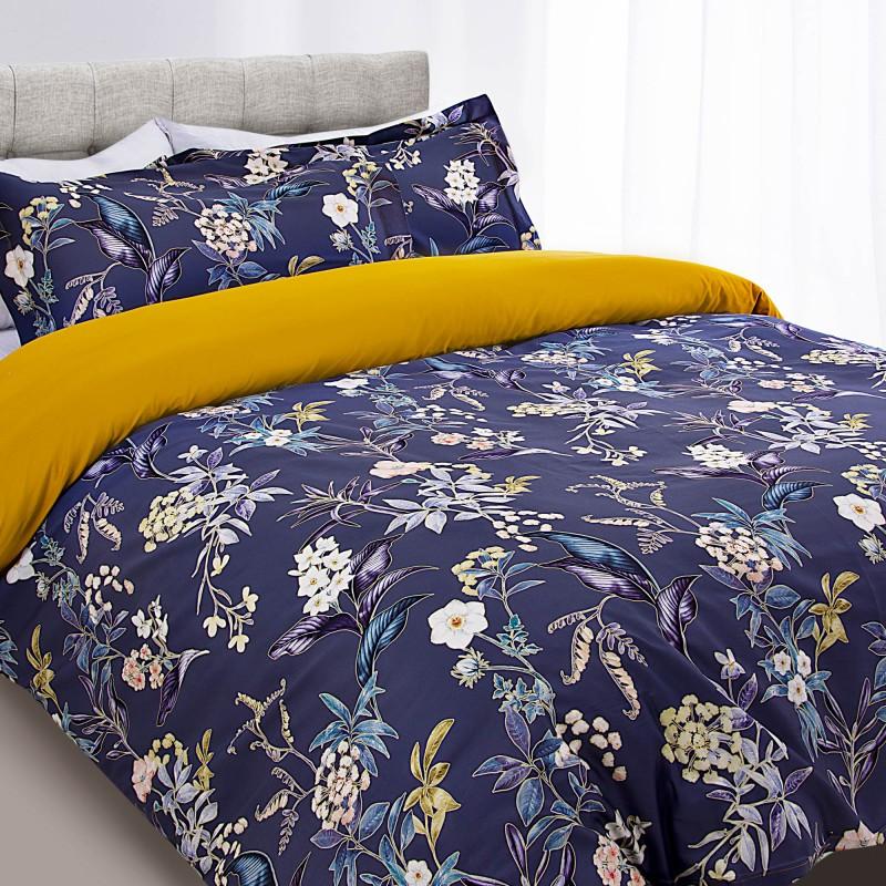 Duvet Flores Multi de 100% algodón y 300 hilos Haus