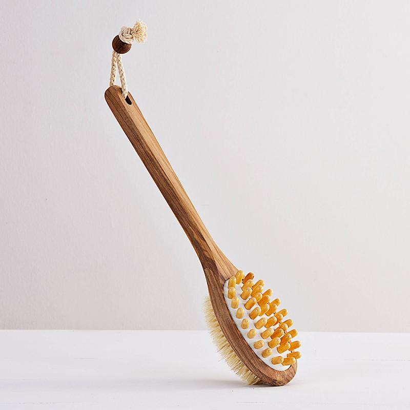 Cepillo doble para cuerpo Madera Teka Ginsey