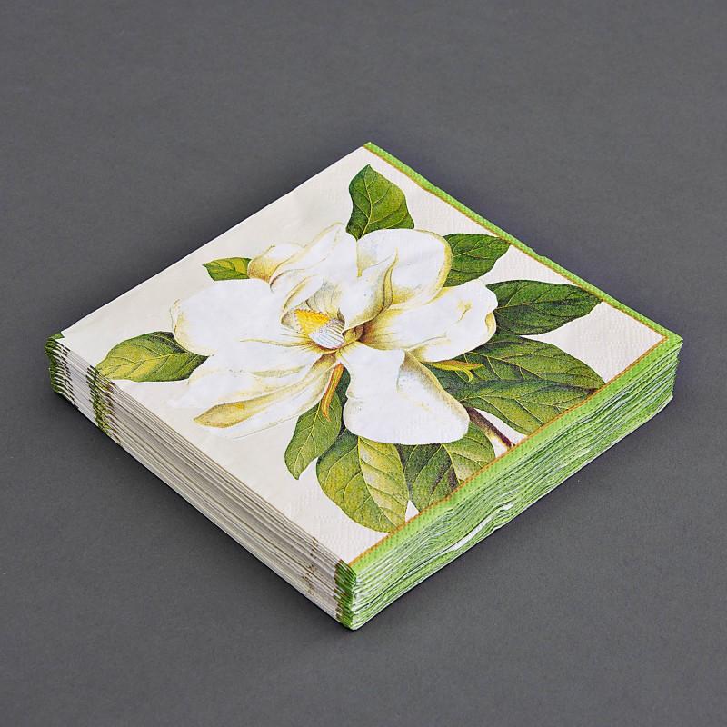 Juego de 20 servilletas lunch Cream Magnolia