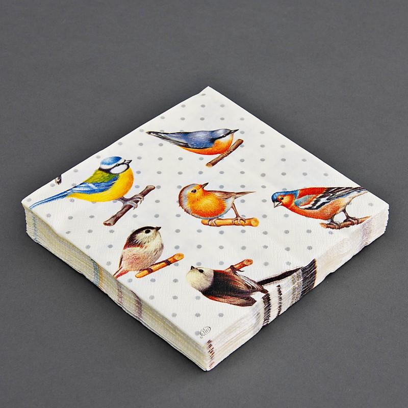 Juego de 20 servilletas lunch Pájaros