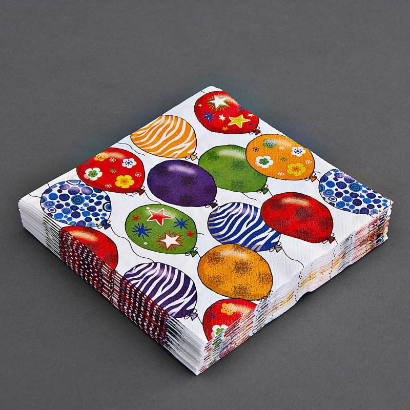 Juego de 20 servilletas lunch Globos Multicolor