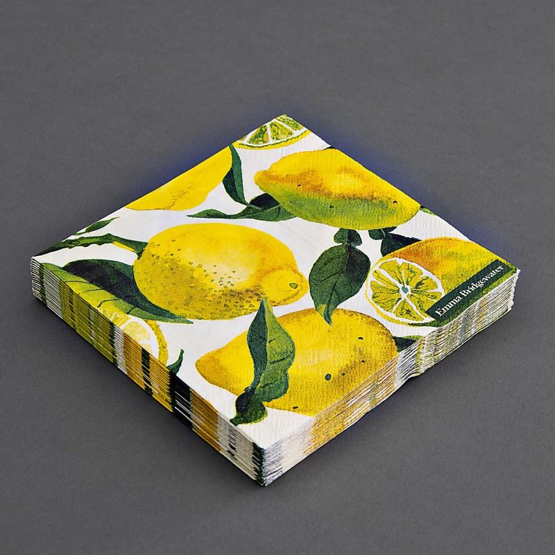 Juego de 20 servilletas lunch Limones