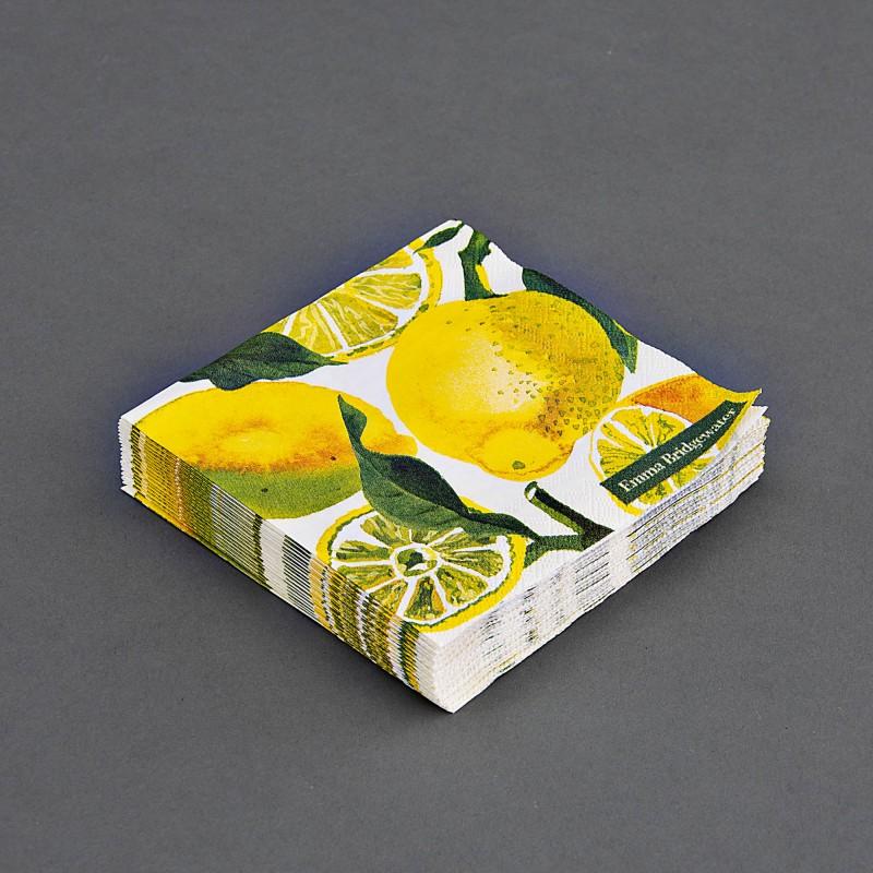 Juego de 20 servilletas cocktail Limones