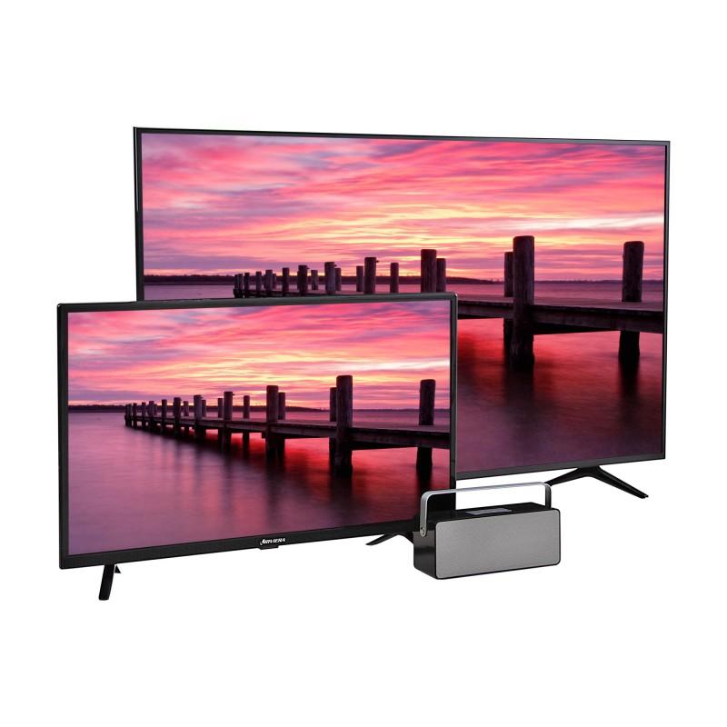 """Riviera TV LED 4K 55"""" DSU55HIK6155 + TV 32"""" DSH32CH6SBTA + Parlante BT"""