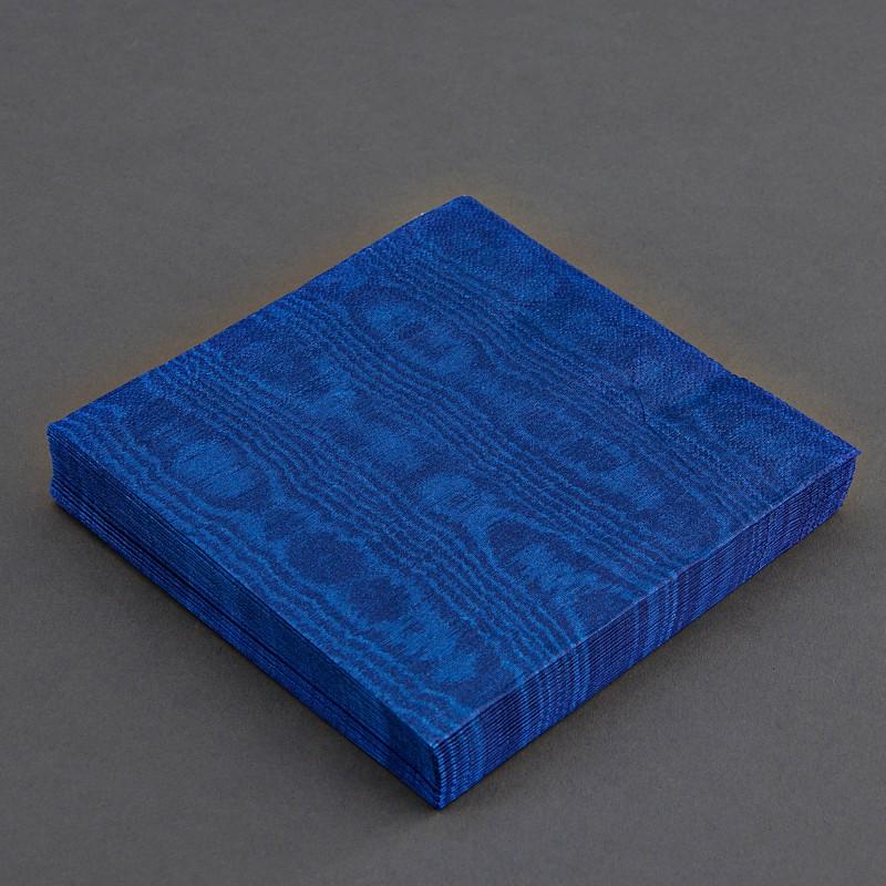 Juego de 20 servilletas lunch Moiree Azul