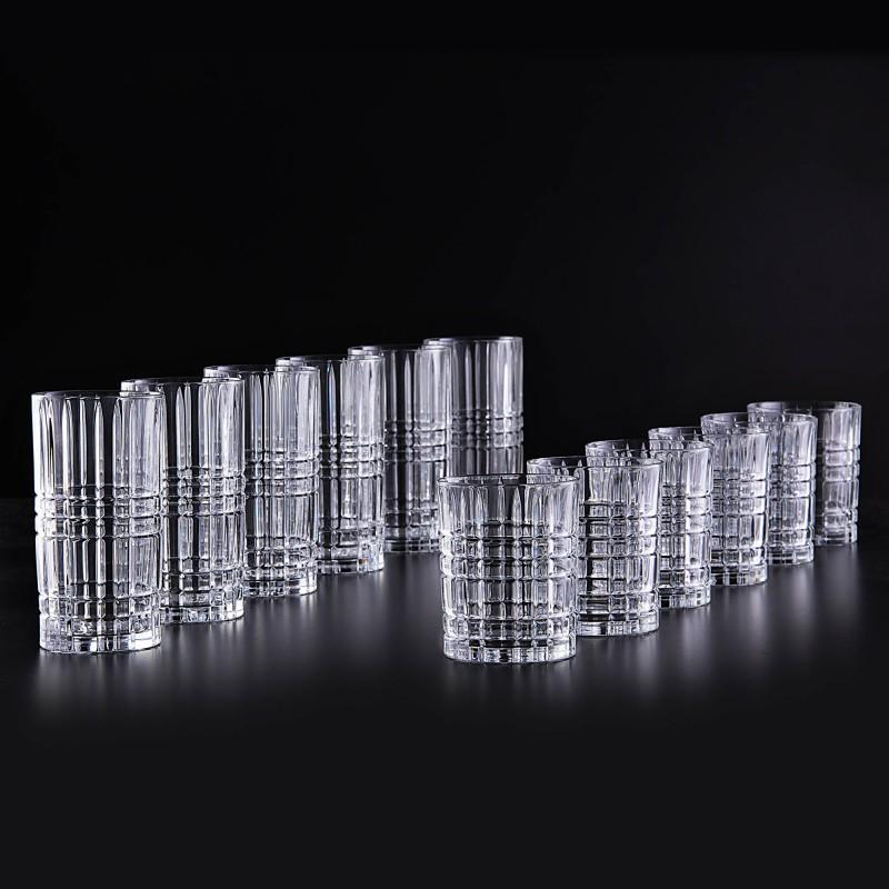Juego de vasos altos / Whisly 12 piezas Highland Nachtmann