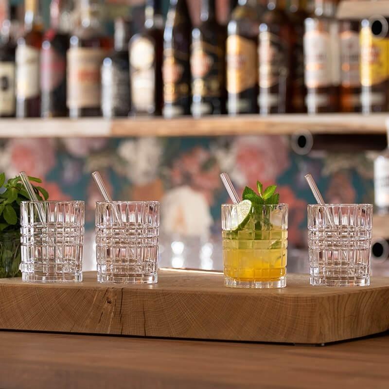 Vasos Whisky con sorbetes y cepillo 9 piezas Tastes Good Nachtmann