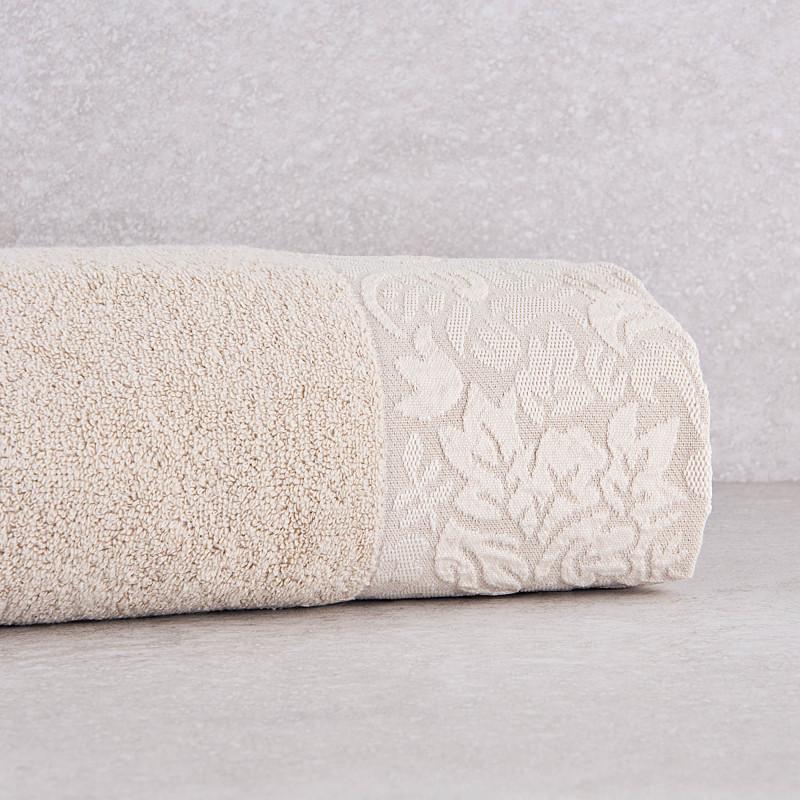 Toalla de baño con cenefa Flor Belfama