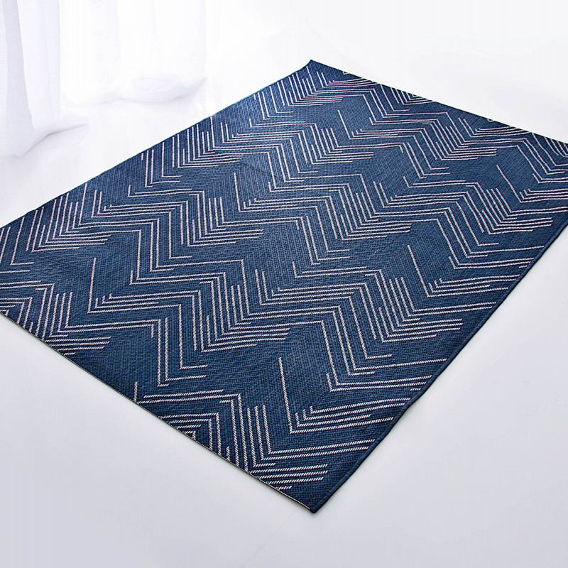 Alfombra para exterior / interior Lineo Azul Mc Three
