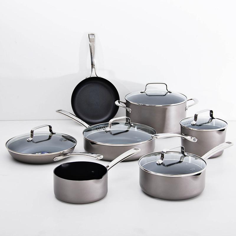Juego de ollas de aluminio para inducción 12 piezas KitchenAid