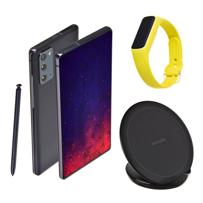 Samsung Galaxy Note20 + Cargador inalámbrico + Galaxy Fit E