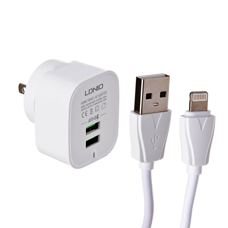 Cargador de pared con cable Lightning LDNIO