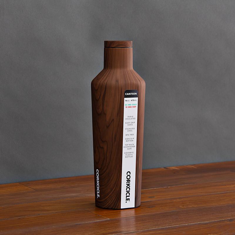 Botella tomatodo térmico 16oz / 475ml Walnut Wood Canteen Corkcicle