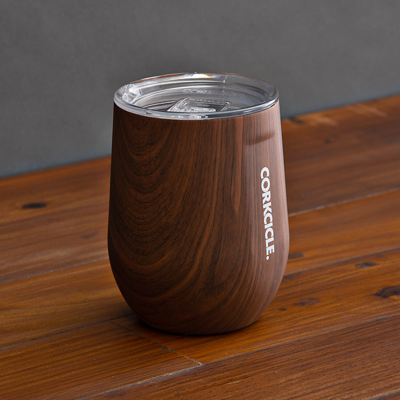 Vaso térmico con tapa 12oz / 355ml Walnut Wood Tumbler Corkcicle