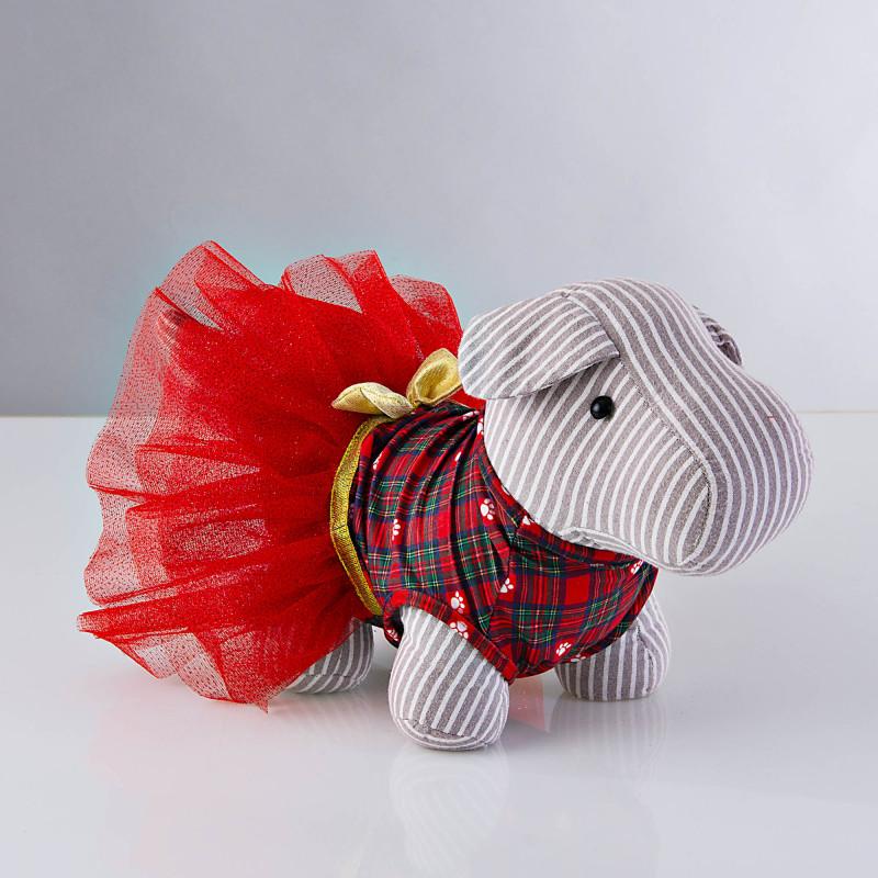 Vestido para mascota Holiday Escocés