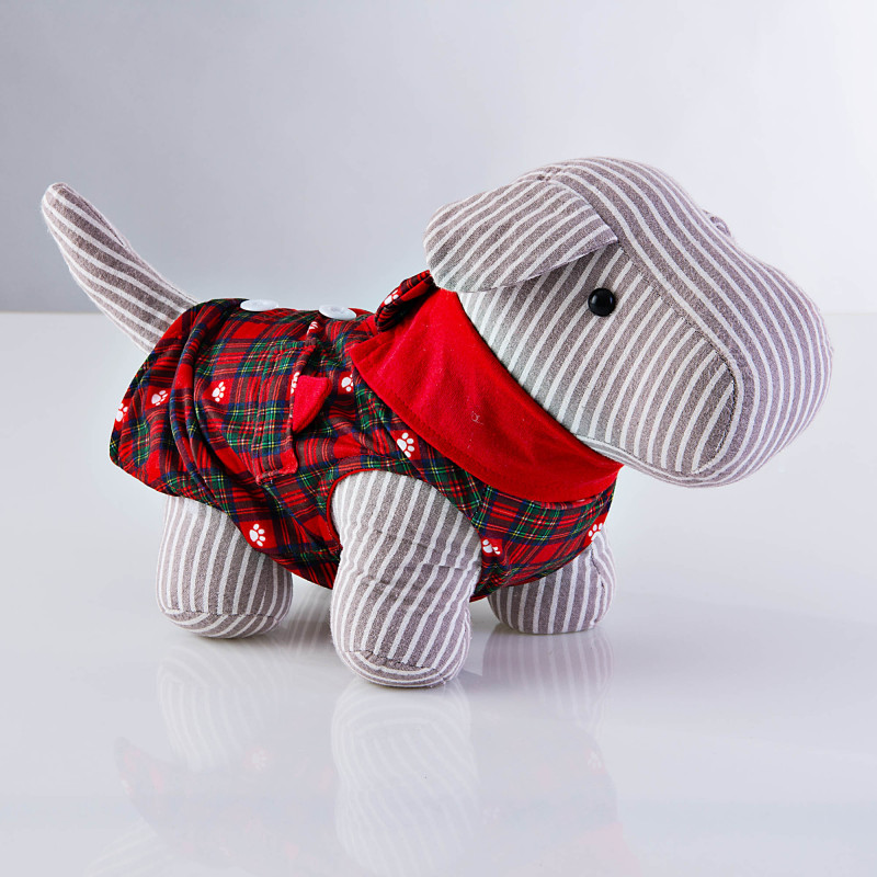 Chaleco para mascota Holiday Escocés