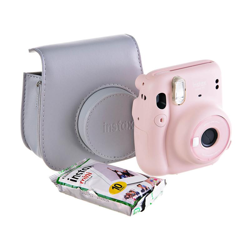 Cámara Mini 9 + estuche + 10 rollos Fujifilm