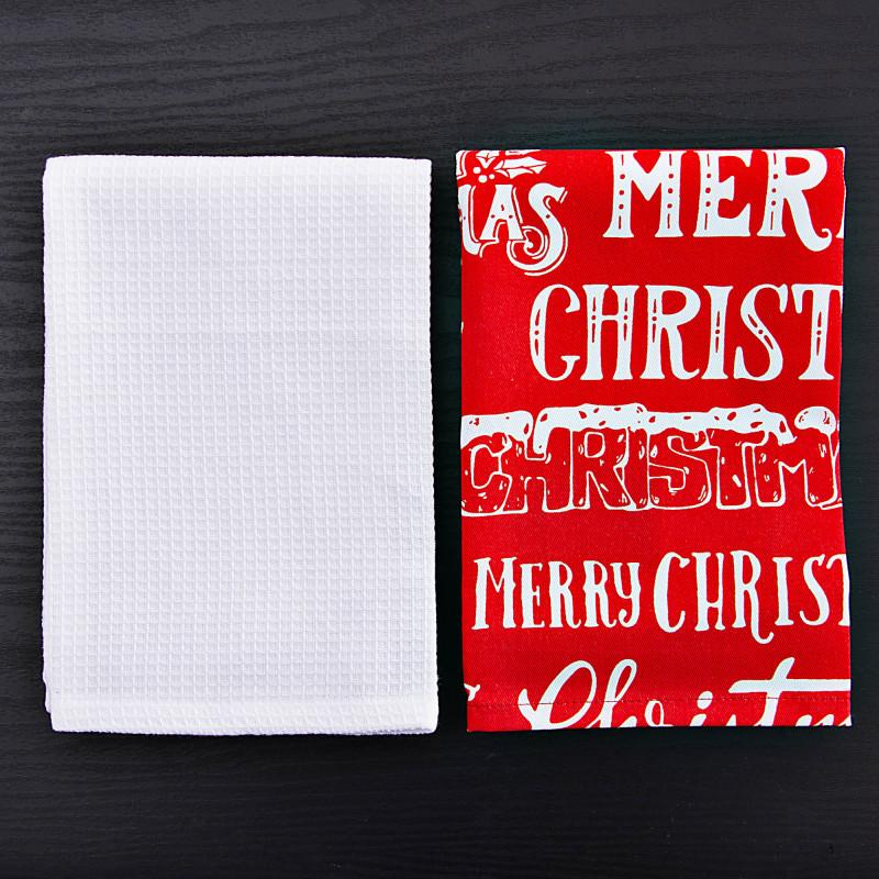 Juego de 2 toallas de cocina Merry Christmas Haus