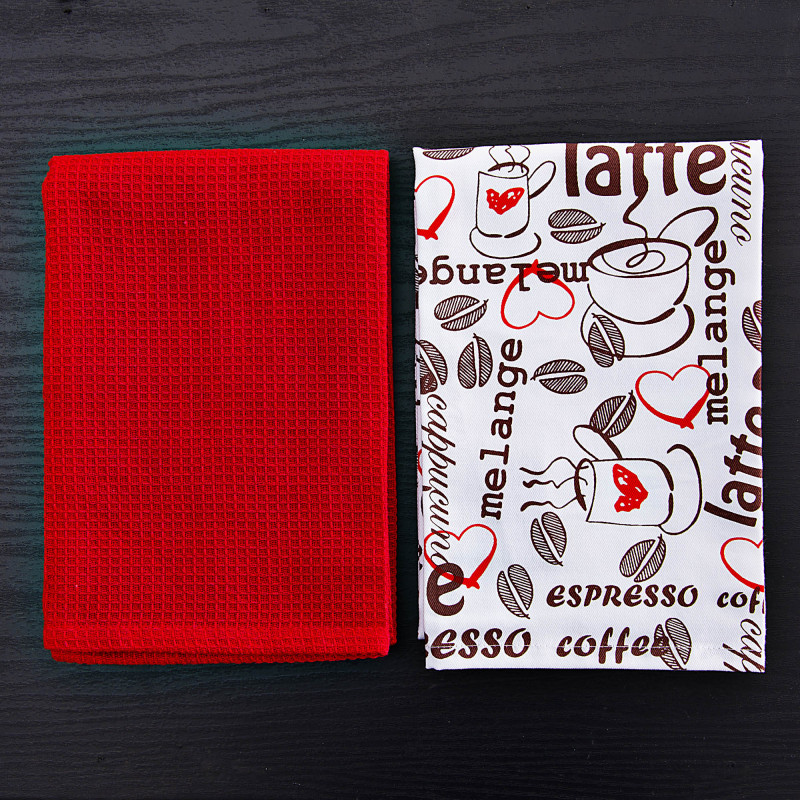 Juego de 2 toallas de cocina Café Latte Haus