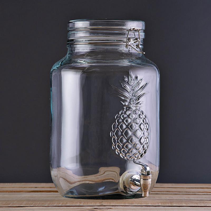 Dispensador para bebidas 2Gal / 7.57L Clear Piña