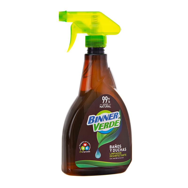 Limpiador desinfectante para baño / ducha Antibacterial / Natural / Biodegradable 500ml Binner