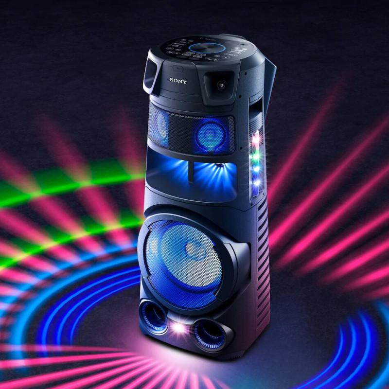 Sony Parlante para fiesta 360° 1440W / BT / NFC / USB / HDMI / Luz / DVD MHC-V83