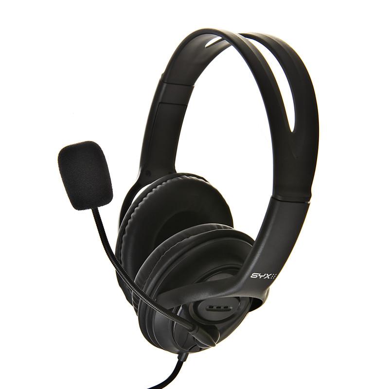 Audífonos gaming 3.5mm con micrófono SYX Q73J