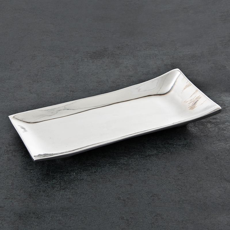 Plato Porta toalla de papel de baño Canoa Angosta Peltre