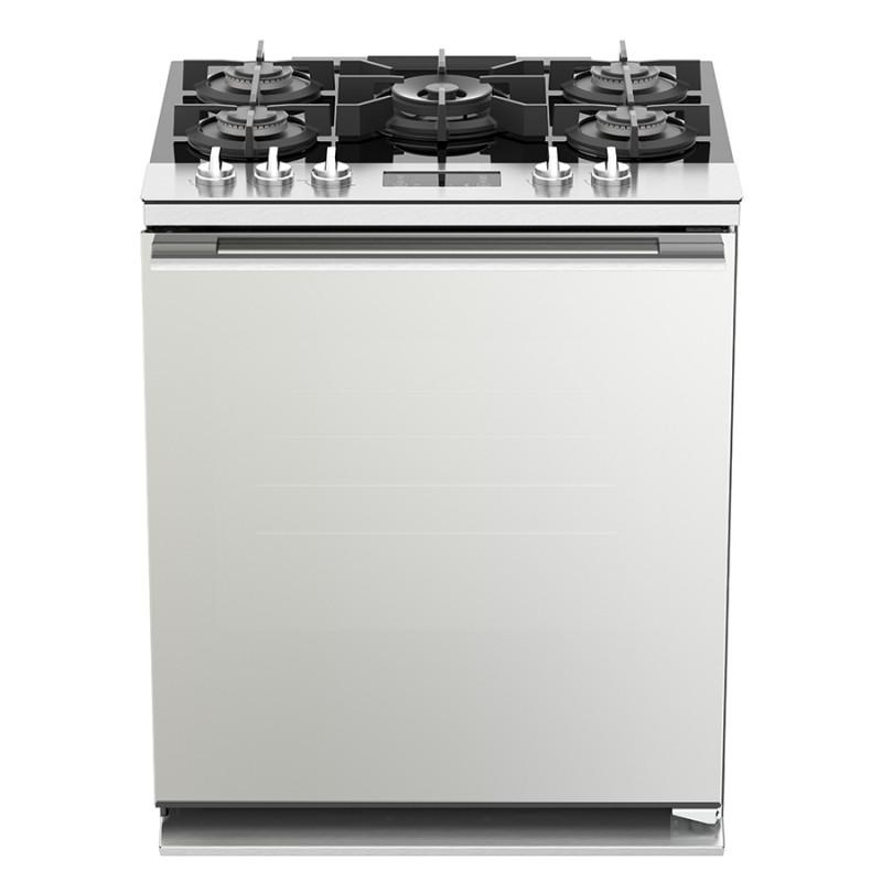Whirlpool Cocinas a gas 5 quemadores Side Door con parrilla autodeslizable / asador infeior WFR9100S