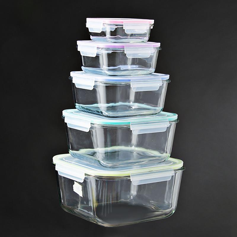 Reposteros cuadrados de vidrio 10 piezas