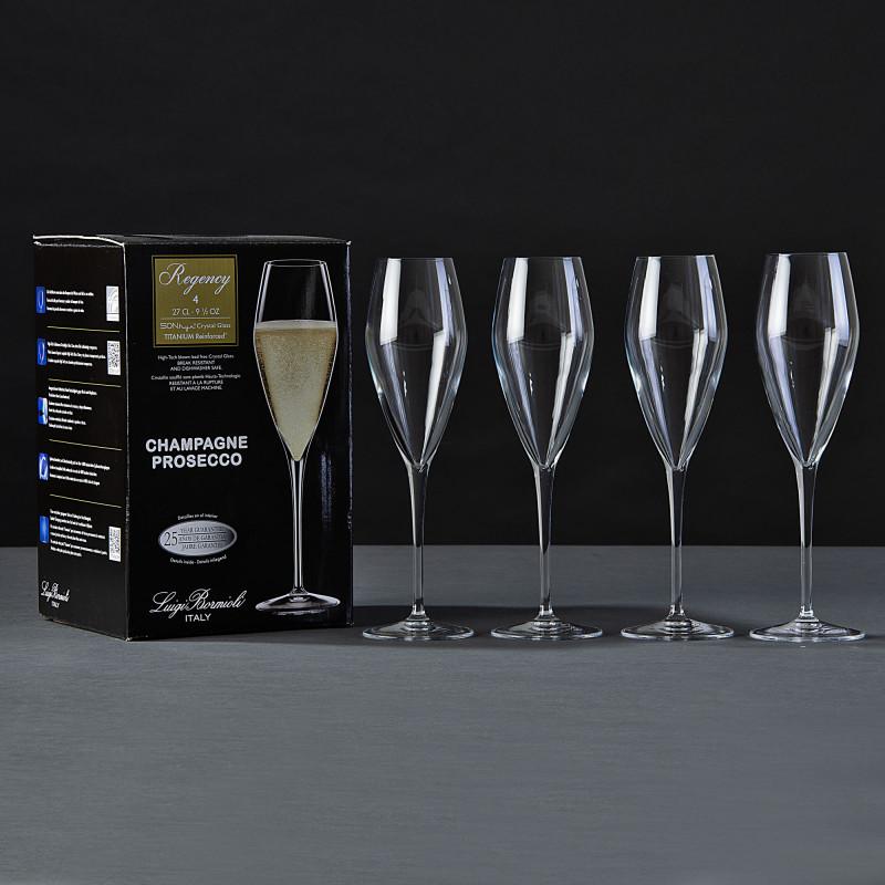 Juego de 4 copas Champagne Regency Bormioli