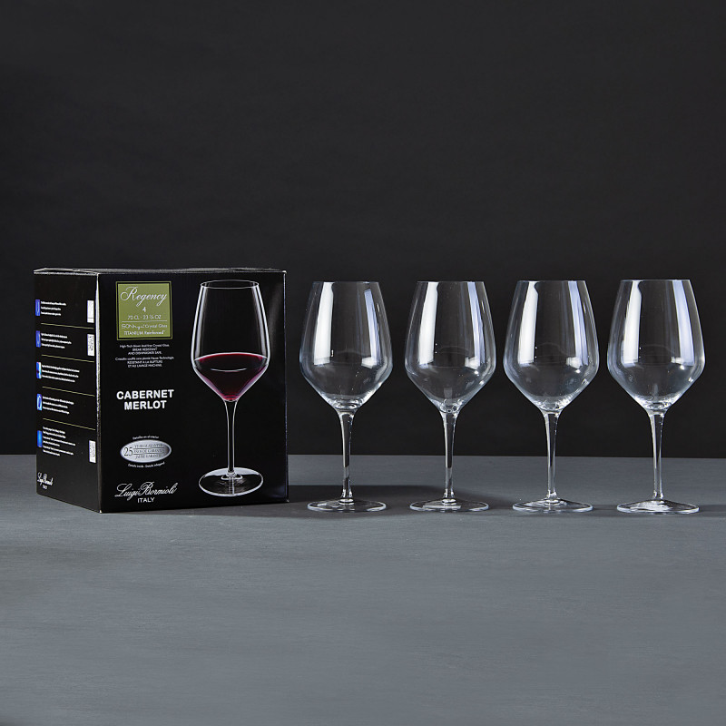 Juego de 4 copas para vino tinto Regency Bormioli