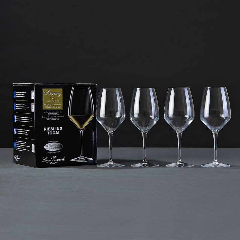 Juego de 4 copas para vino blanco Regency Bormioli