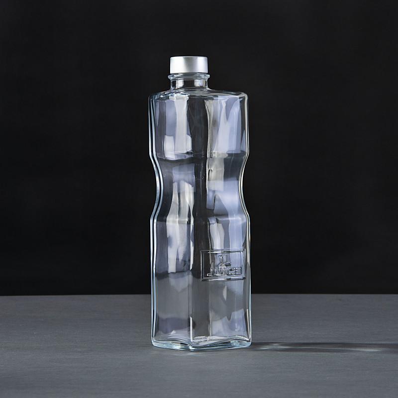 Botella / Jarra con tapa 1L Optima Bormioli