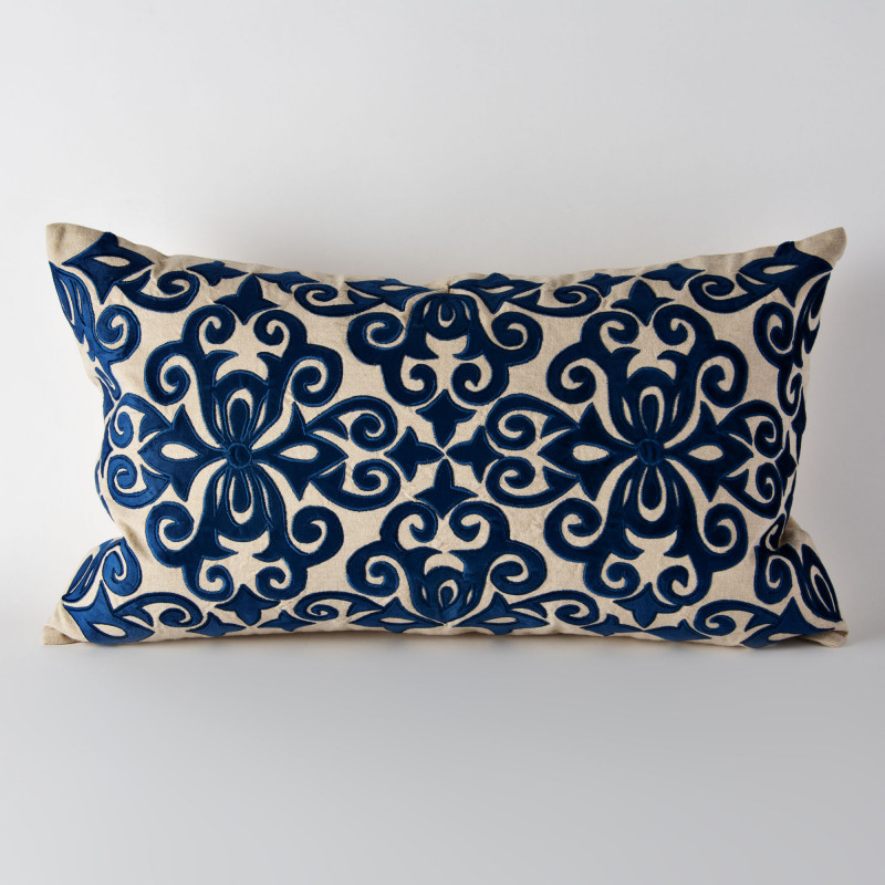 Forro para cojín Arabesco Azul Haus