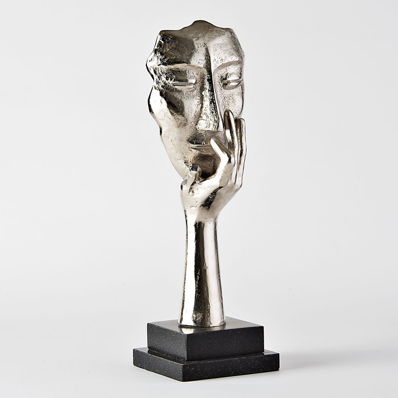 Figura decorativa Cara Silver Haus