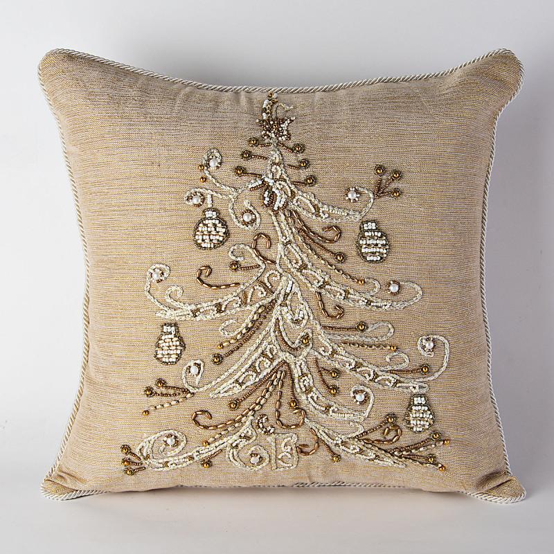 Forro para cojín con mullos Árbol de Navidad Haus