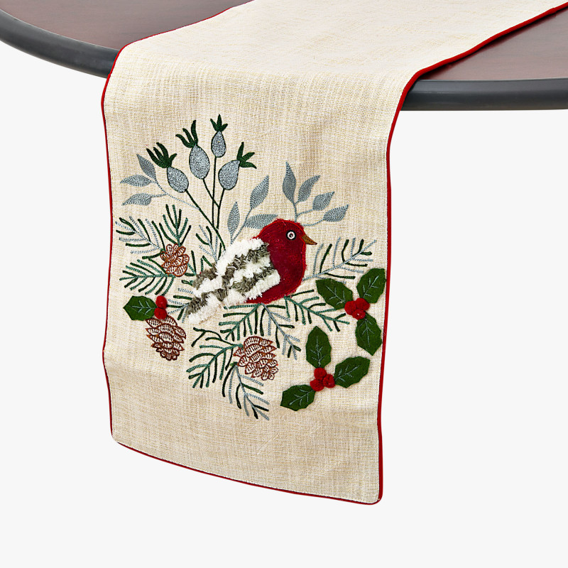 Camino de mesa Pájaro Cardenal Haus